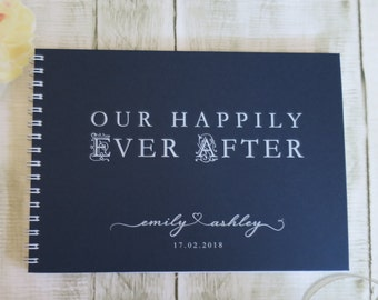 Ever After | Personalised Custom Made Guestbook | Wedding | Engagements | Parties | Australia Seller