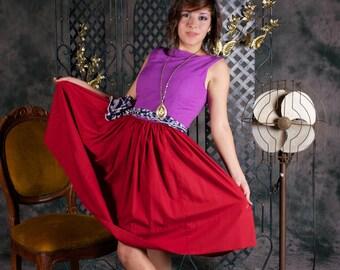 return to 1950 full skirt dress