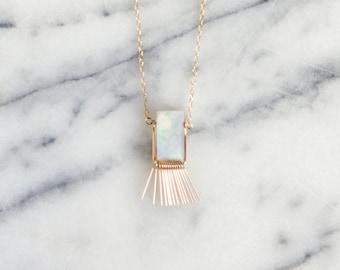 G E O R G I N A  ∙  moonstone fringe necklace