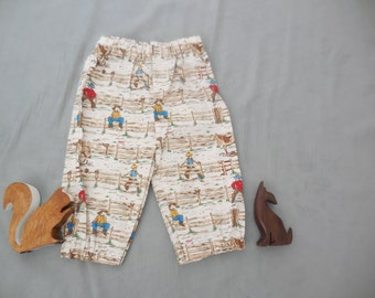 cowboy print 3/4 length pants, size 1-2 years