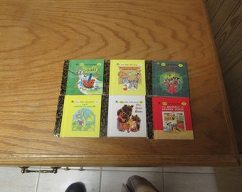 Six Little Little Golden Books #5—1955 #7—1986 #13—1953 #22—1976 #24—1973 #33—1983