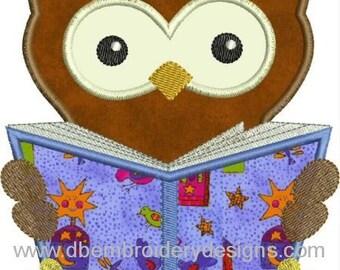 INSTANT DOWNLOAD Smart owl Applique designs