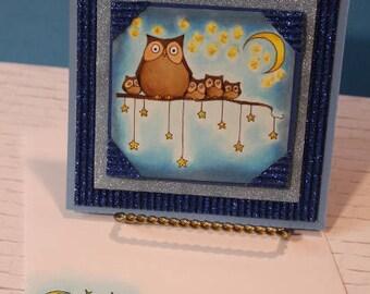 Night Owls - Handmade Greeting Card