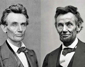 Abraham Lincoln . Lincoln before after civil war