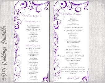 Beach Wedding Program Template Coral Starfish - Wedding invitation templates: wedding order of service template
