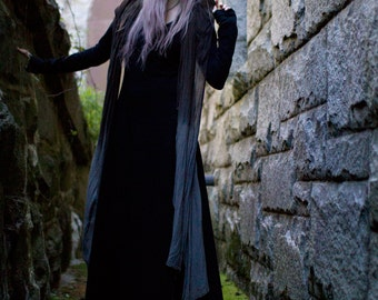 PLUS SIZE Gothic Dress, Medieval, Plus Size Black Dress, Witch, 2XL Dress, 3XL Dress, Plus Size Black Maxi Dress, Longack Plus Size Dress