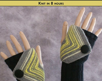 GRACEFUL GOTH Knit Fingerless Mittens Pattern [Digital File Download]