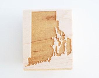 Rhode Island State Rubber Stamp