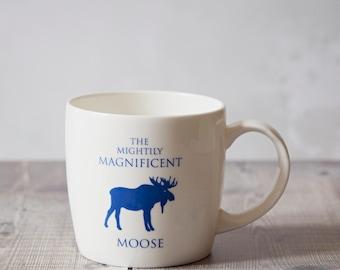 Moose Mug - Moose Gift - Coffee Mug - Bone China Mug - Nordic Mug - Moose Home Decor - scandinavian mug - Gifts for Him - Gifts for Her