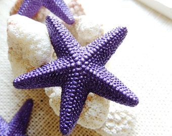 Purple Beach Push Pins Thumbtacks Pushpin Decorative Thumb Tack Starfish Office Supplies Decor Unique Gift Idea