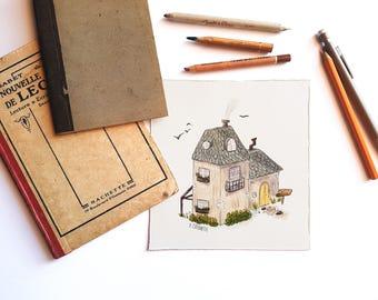 Sweet House Print 15,5x16,5 cm