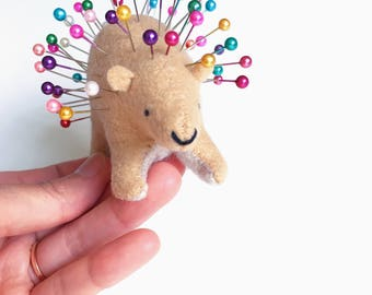 Porcupine Pin Cushion by Dandyrions / Sewing Tool / Quilting Notion / Gift for Friends