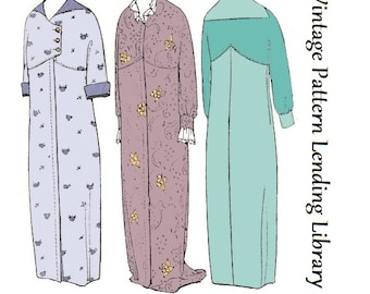 1918 Ladies Empire Style Dressing Gown - Reproduction Sewing Pattern #E5801