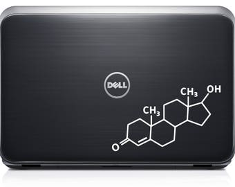 Testosterone Molecule Decal for computer , wall or bumper sticker