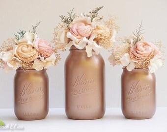 Small Floral Arrangement, Wedding Reception Centerpiece, Home Decor, Wedding Decor, Sola Flowers, Silk Flowers