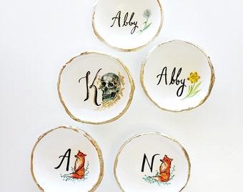 Custom Illustration Jewelry Dish