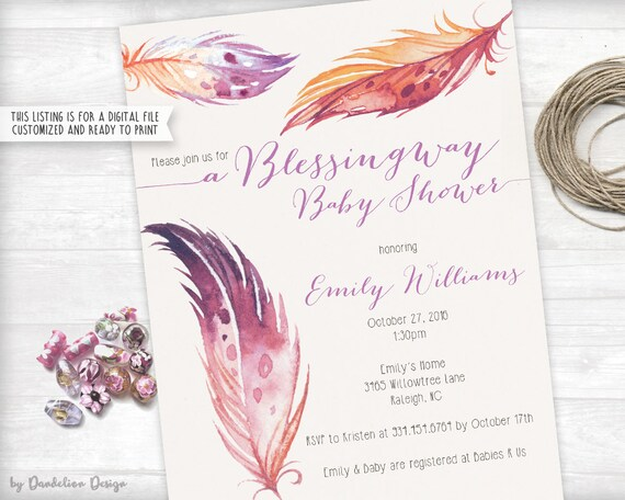 Blessingway Baby Shower Invitation Printable