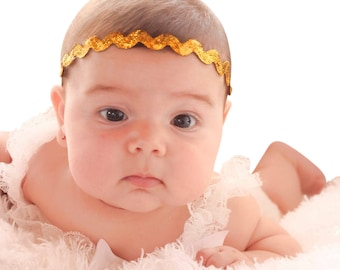 Gold Headband, Baby headband, Infants Headband, Newborn headbands, hair band, baby headbands, headbands baby, headbands for girls