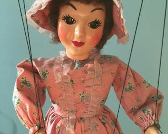 "Rare Hazelle ""Lifelike"" Marionette 904 Southern Belle Jeanette"
