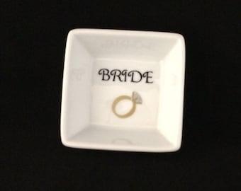 Wedding Ring Dishes Gift, Bride, Wedding, Bridal Shower Gift, Bride Christmas Gift, Bride Stocking stuffer, Mrs. ring dish, jewelry holder