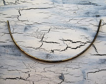 Blackened Notched Brass Neck Bar - 5 inches - 14 gauge