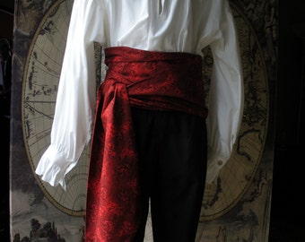 XL Pirate Sash, Red,  High QualityCotton.