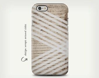 Wood Case, iPhone 7 Case, iPhone X Case, Wood Case, White Stripes, iPhone 6s Case, iPhone 8 Case, Galaxy S8 Case, Galaxy S8 Plus Case
