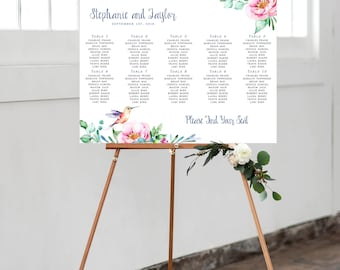 Seating Chart - Peonies and Succulents (Style 0020)