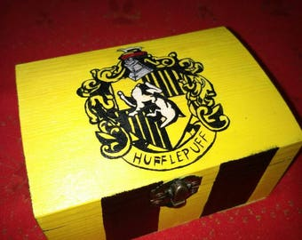 Wooden Jewelry Box Hufflepuff Inspired Harry Potter Birthday Gift Hogwarts House