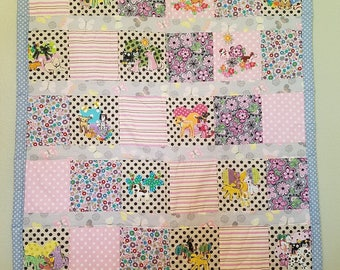 Patchwork Puppies and Flowers Quilt