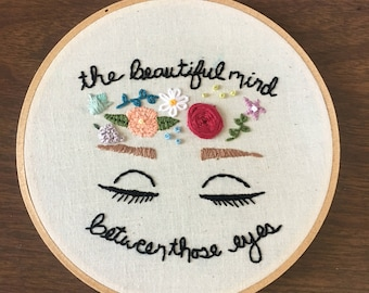 Beautiful Mind - Hand-embroidery - Floral - Wall Hanging