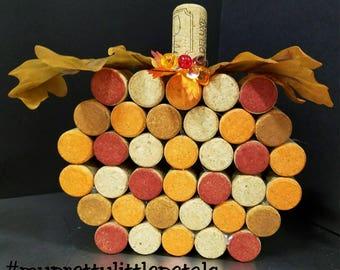 Large Wine Cork Pumpkin