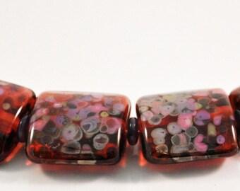 Lampwork Pillow beads for bracelet