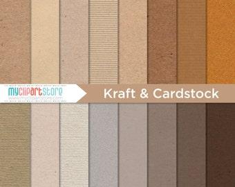 Texture numérique - papier Kraft & carte de stock, carton ondulé, papier de scrapbooking, tutoriel, utilisation commerciale, JPEG