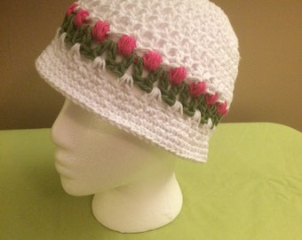 Girls Tulip hat with brim