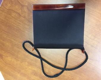 Vintage Jorelle Black Satin Purse