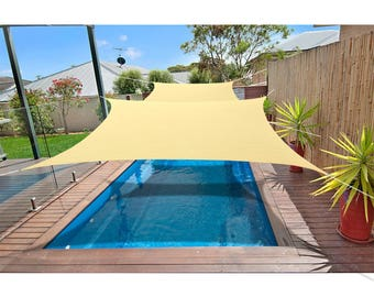 Custom Sized  Waterproof Woven Sun Shade Sail in Vibrant Colors - Scotchbutter