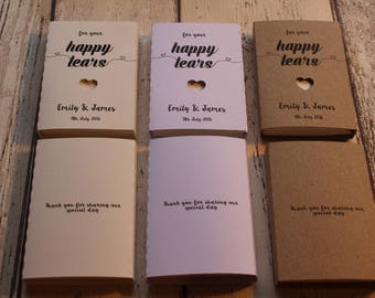 10 Personalised Wedding Favour Tissues for your Happy Tears