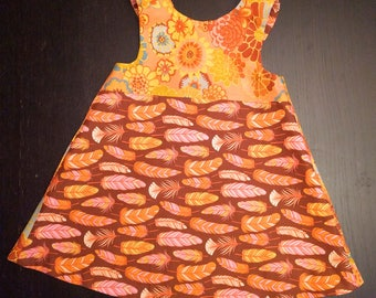 Reversible Feathers Dress 4t