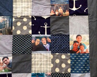 High school graduation,Photo Collage Quilt. Photo Collage Gift. Personalized Photo Collage.college graduation gift.family memories.