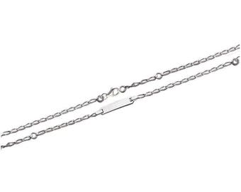 Silver curb chain Bracelet for baby with engraved name 51448035 15 cm
