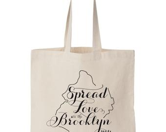 Brooklyn NY, Wedding Welcome Tote Bag