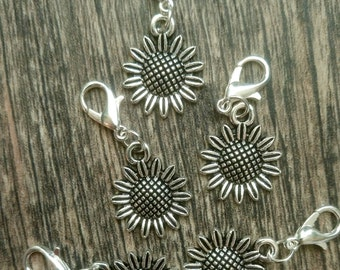 Sunflowers Stitch Marker Set