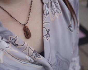 "18"" Bronze Key & Keyhole Necklace"