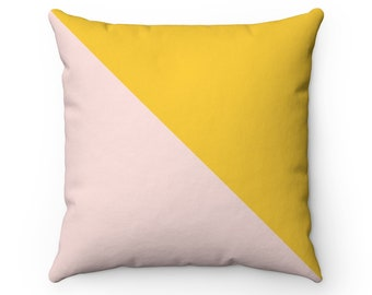 Tuscany Yellow And Pink Pillow Cover