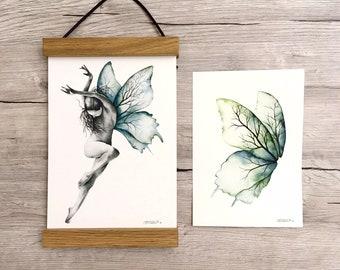 """Print + original set - """"Dance"""" - Watercolor illustration"""