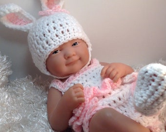 14 inch Doll clothes,Bunny doll clothes,Bunny set.Ready to Ship,Gifts for kids,14 inch Doll clothes,Included are Hat,top,bottoms and shoes