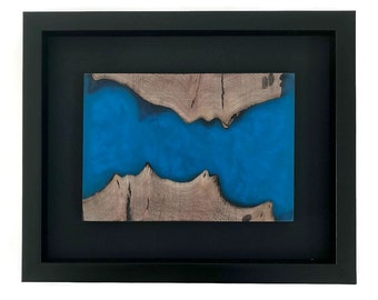 Live Edge Wood and Resin Wall Art, home decor, wall art, resin and wood art, art, wood, wood wall art