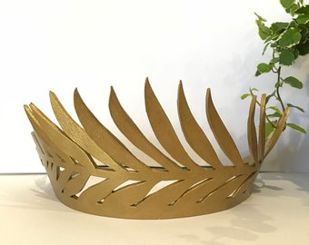 Gold palm Leather crown