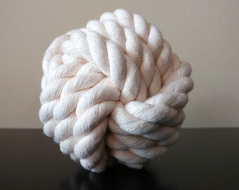 Large Ball // All Natural Cotton Rope Dog Toy - Monkey's Fist Knot